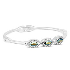 Jon Richard - Iridescent green crystal navette bangle MADE WITH SWAROVSKI ELEMENTS