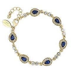 Alan Hannah Devoted - Designer Clara blue crystal peardrop link bracelet