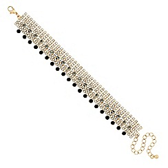 Jon Richard - Statement jet and diamante crystal bracelet