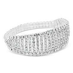Jon Richard - Diamante crystal graduated stretch bracelet