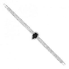 Jon Richard - Jet peardrop and diamante crystal bracelet