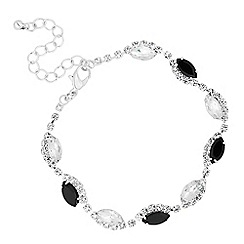 Jon Richard - Jet and crystal navette zig zag bracelet