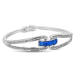 Jon Richard - Blue square crystal embellished bangle