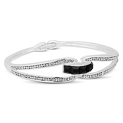 Jon Richard - Jet square stone crystal embellished bangle