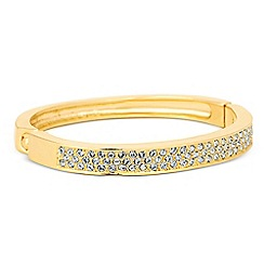 Jon Richard - Crystal embellished gold panel bangle