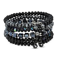 Jon Richard - Jet bead multi stone cuff bracelet