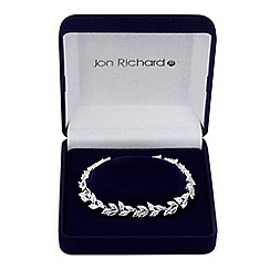 Jon Richard - Cubic zirconia leaf link bracelet