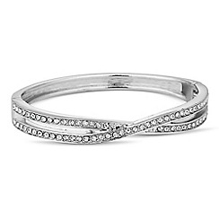 Jon Richard - Crystal embellished cross over bangle