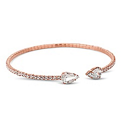 Jon Richard - Diamante crystal and peardrop tip bracelet