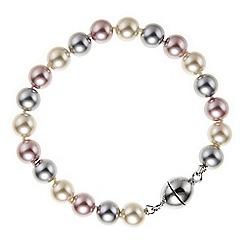 Jon Richard - Tonal pink pearl magnetic bracelet