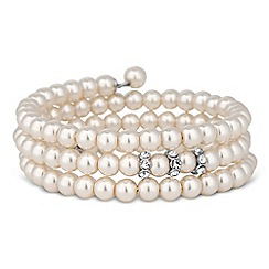 Jon Richard - Pink pearl and crystal disc coil bracelet