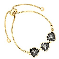 Jon Richard - Silver night triple trilliant drop bracelet MADE WITH SWAROVSKI CRYSTALS