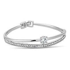 Jon Richard - Silver cubic zirconia and crystal embellished bangle