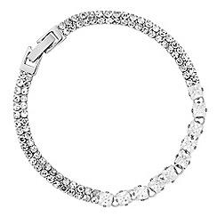 Jon Richard - Fine diamante cubic zirconia silver bracelet