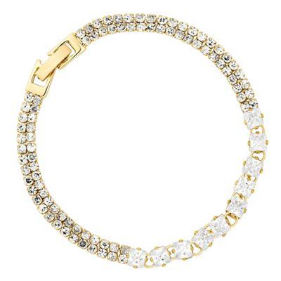 Jon Richard Fine diamante cubic zirconia gold bracelet