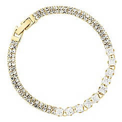 Jon Richard - Fine diamante cubic zirconia gold bracelet