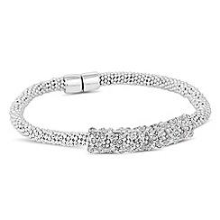 Jon Richard - Crystal cross row mesh magnetic bracelet