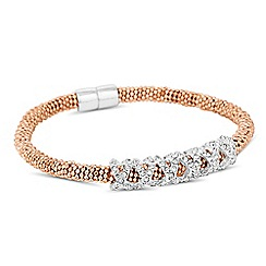 Jon Richard - Crystal embellished criss cross magnetic bracelet