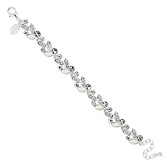 Jon Richard - Pearl and crystal encased leaf link bracelet
