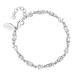 Jon Richard - Cubic zirconia mixed shape link bracelet