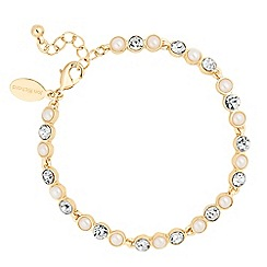 Jon Richard - Pearl and crystal blush link bracelet
