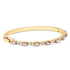 Jon Richard - Pink navette and round crystal bangle