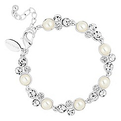 Alan Hannah Devoted - Designer pearl and crystal bubble link bracelet