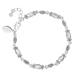 Alan Hannah Devoted - Designer crystal encased navette link bracelet