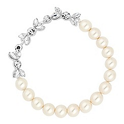 Alan Hannah Devoted - Designer pearl and crystal navette stretch bracelet