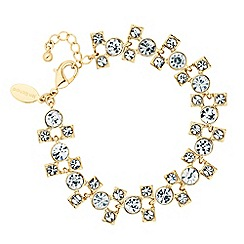 Jon Richard - Graduated crystal circle and square bracelet