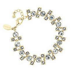 Jon Richard - Graduated crystal circle and square bracelet
