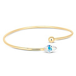 Jon Richard - Golden shadow briolette bangle MADE WITH SWAROVSKI CRYSTALS