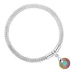 Jon Richard - Paradise shine crystal round drop stretch bracelet MADE WITH SWAROVSKI CRYSTALS