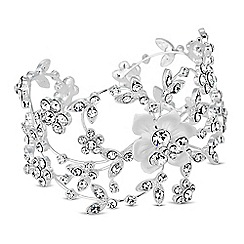 Alan Hannah Devoted - Designer crystal botanical swirl cuff