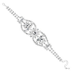 Jon Richard - Diamante crystal flower surround bracelet