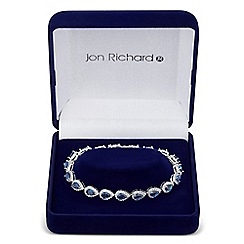 Jon Richard - Orchid cubic zirconia pear drop bracelet