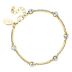 Jon Richard - Round crystal and embellished gold bar bracelet
