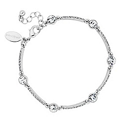 Jon Richard - Round crystal and embellished silver bar bracelet