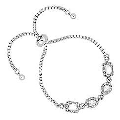 Jon Richard - Mixed crystal surround stone silver toggle bracelet