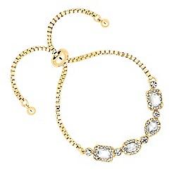Jon Richard - Mixed crystal surround stone gold toggle bracelet