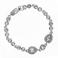 Jon Richard - Crystal peardrop tennis bracelet