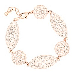 Jon Richard - Filigree oval and circular link bracelet