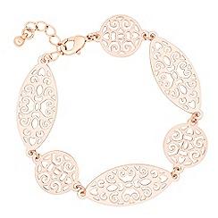 Jon Richard - Filigree oval and circular link bracelet