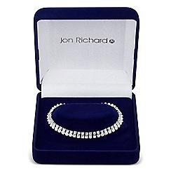 Jon Richard - Rectangular cubic zirconia link bracelet