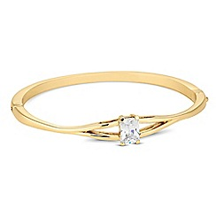 Jon Richard - Cubic zirconia stone set gold bangle