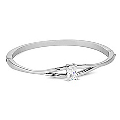Jon Richard - Cubic zirconia stone set silver bangle