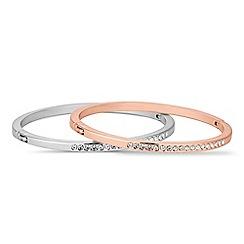 Jon Richard - Set of two crystal embellished bangles
