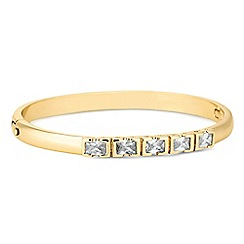 Jon Richard - Gold cubic zirconia square encased bar bangle