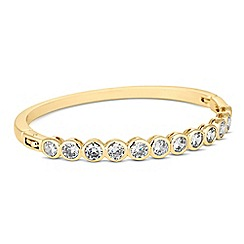 Jon Richard - Round cubic zirconia encased gold bangle