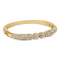 Jon Richard - Gold crystal embellished two ball bangle